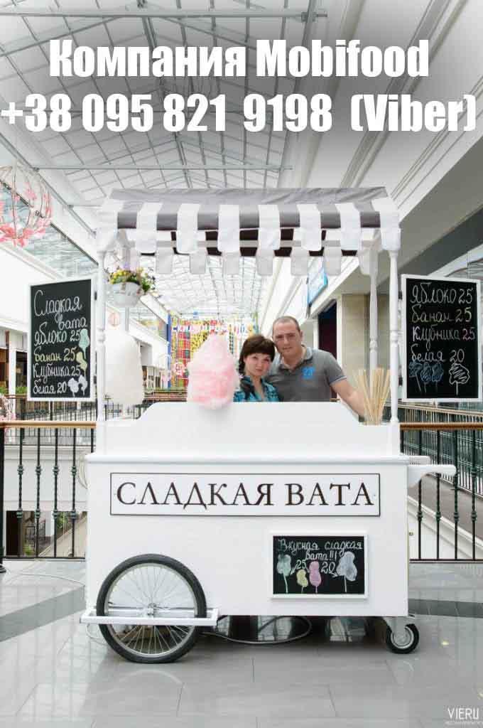 """Торговая тележка для сладкой ваты """"CandyBar""""  (РТД-2)."""
