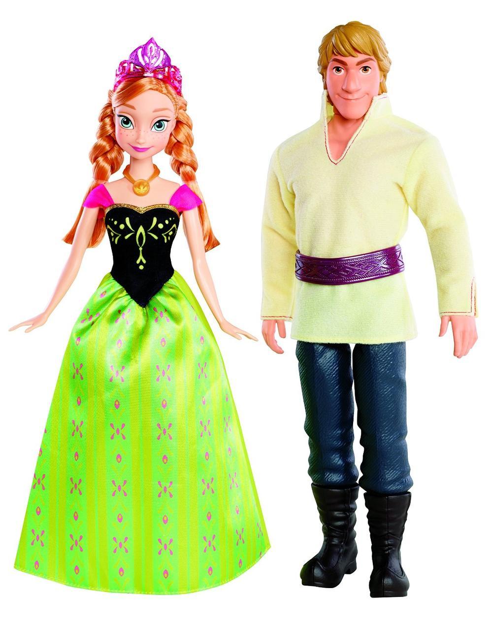 Disney Frozen Анна и Кристофф Замороженные  Anna and Kristoff Doll, 2-Pack