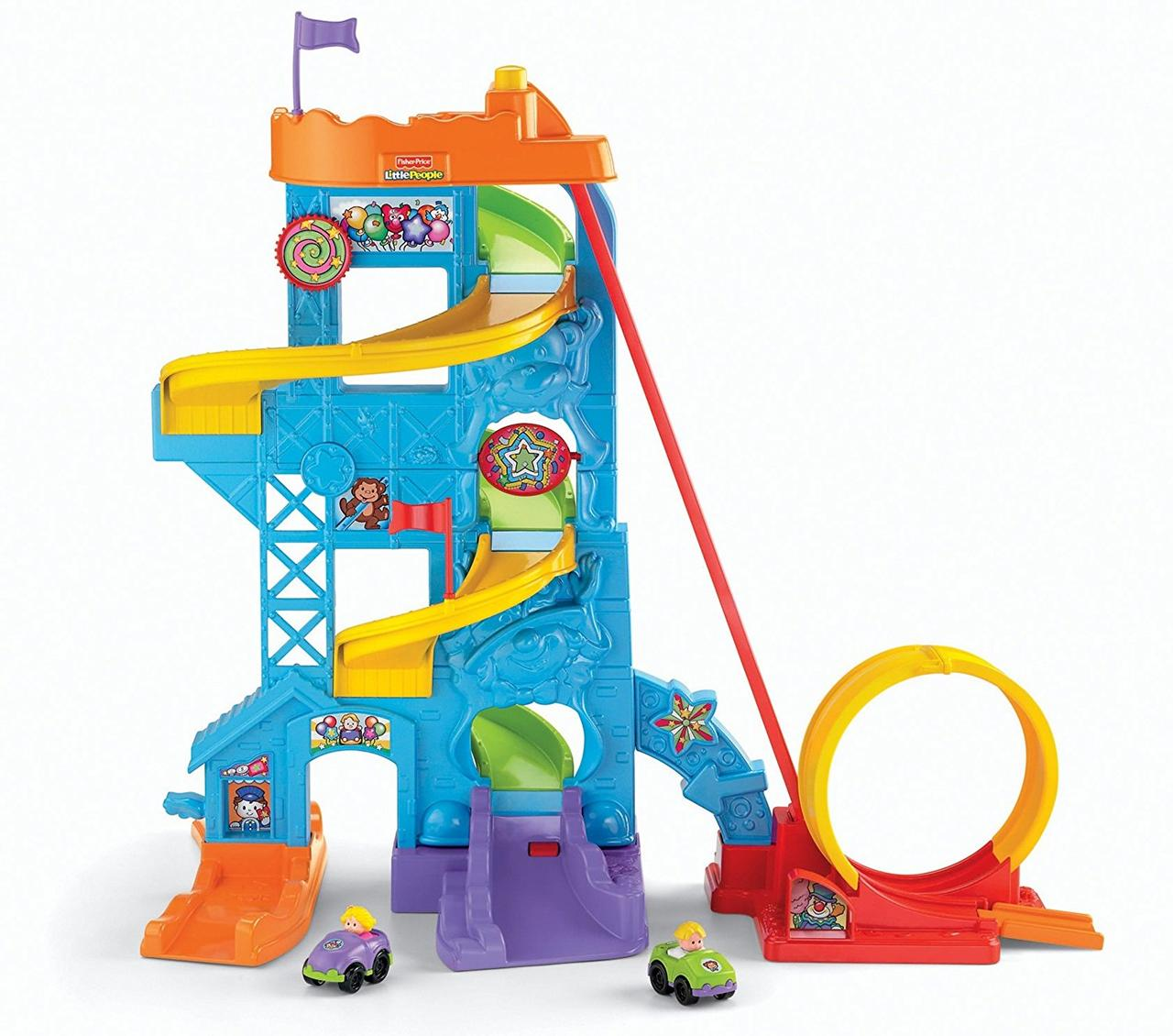 Fisher-Price парк развлечений Little People эко упаковка Loops n Swoops Amusement Park