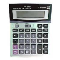 Настольный Калькулятор PWE DM-07 1200V Серый hubnp21034, КОД: 666802