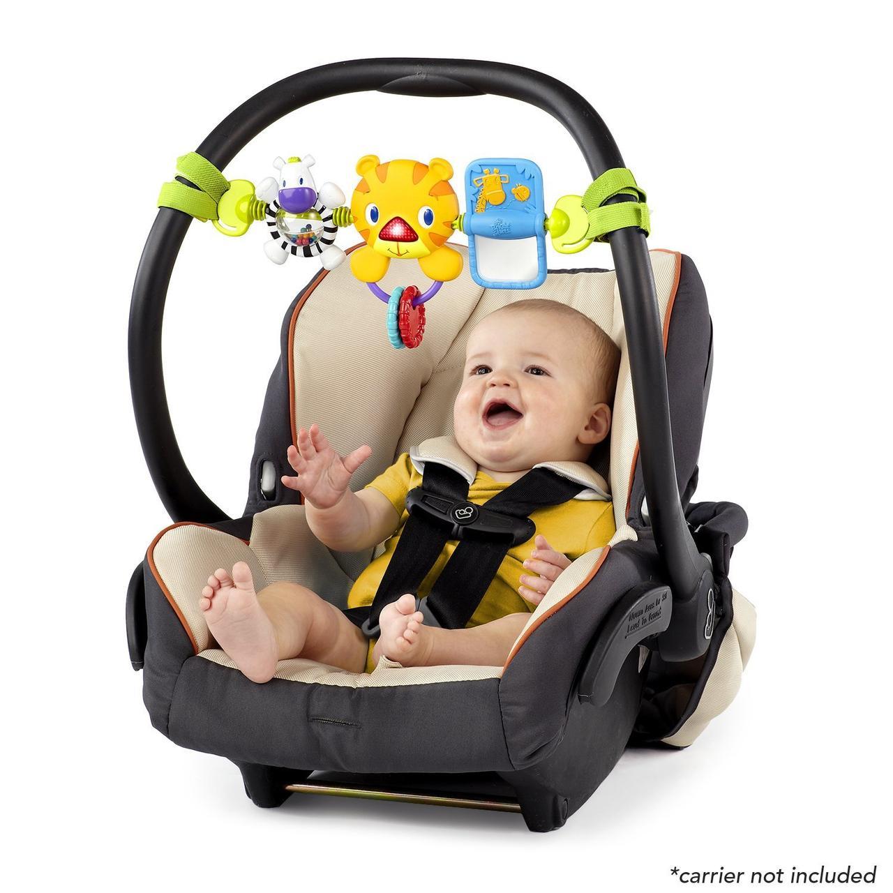 Bright Starts музыкальная подвесная игрушка Take Along Carrier Toy Bar