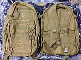 Тактическая EDC сумка-рюкзак однолямочная, с отделением под пистолет. Цвета: олива, койот, чёрный, мультикам, фото 5