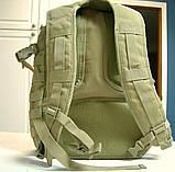 Тактическая EDC сумка-рюкзак однолямочная, с отделением под пистолет. Цвета: олива, койот, чёрный, мультикам, фото 6