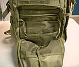 Тактическая EDC сумка-рюкзак однолямочная, с отделением под пистолет. Цвета: олива, койот, чёрный, мультикам, фото 10