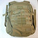 Тактическая EDC сумка-рюкзак однолямочная, с отделением под пистолет. Цвета: олива, койот, чёрный, мультикам, фото 9