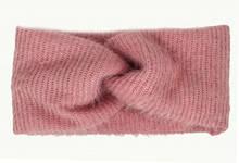 Узкая повязка теплая на волосы