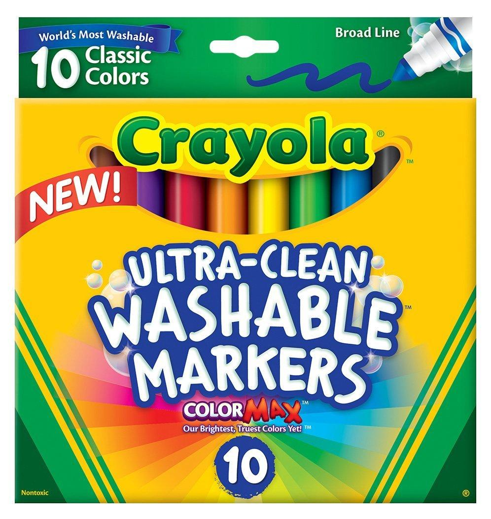 Crayola смываемые маркеры Ultraclean Broadline Classic Washable Markers