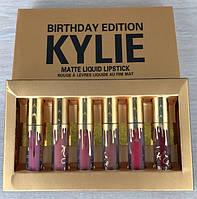 Набор из 6 матовых помад Kylie Birthday Edition 513923855, КОД: 157467