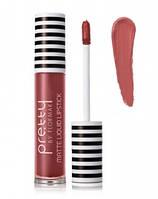 Жидкая матовая помада Flormar Pretty Matte Liquid Lipstick 02 Rosy nude 96435, КОД: 1089889