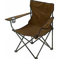 Кресло раскладное Паук с подстаканником  коричневый для рыбалки пикника