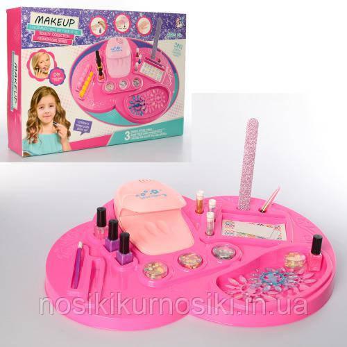 Маникюрный набор для девочек 3в1 — лампа, лаки, блестки, пилочка, подставка