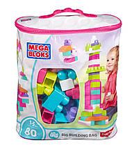 Mega Bloks рожевий конструктор Мега Блок 80 деталей First Builders Big Building Bag Classic