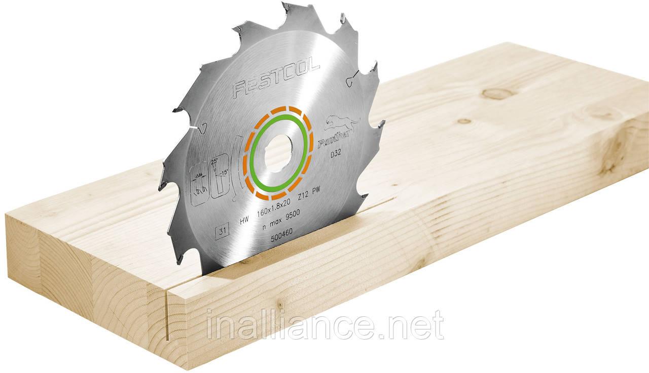 Пильный диск Panther 160x20x1,8 PW12 Festool 500460