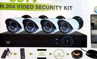 (DVR KIT H.264 DIY 4 CHANNEL)4х канальная система домашнего видеонаблюдения