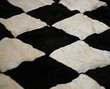 Купити чорно білий килим шахи з лами, фото 3