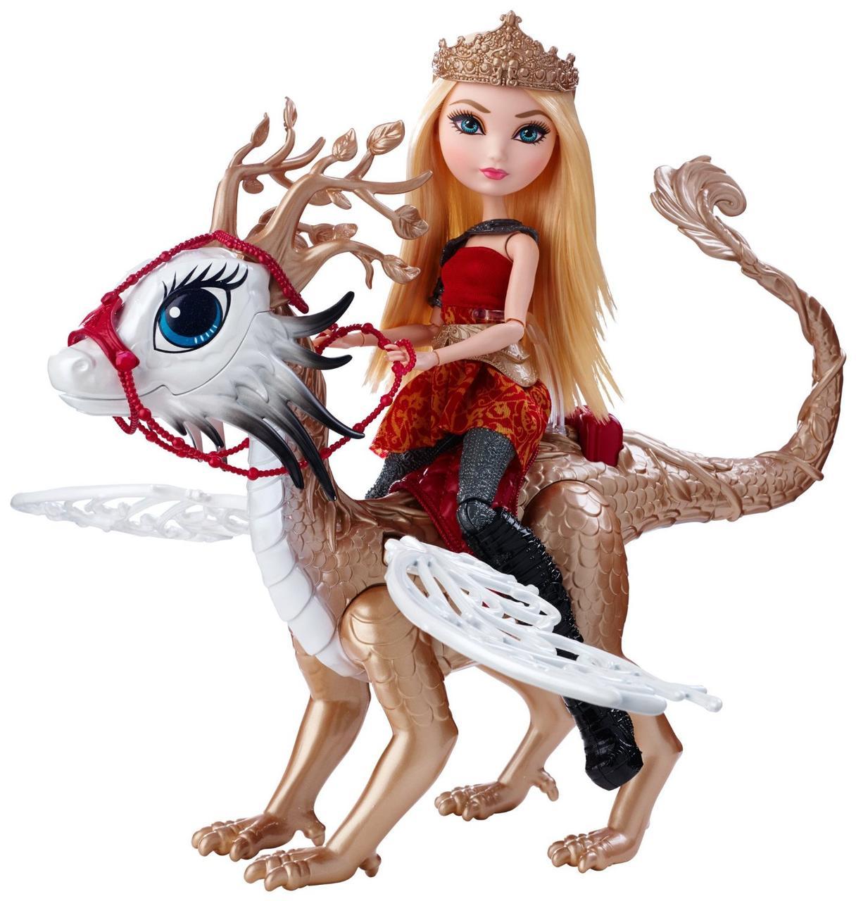 Ever After High Эппл Уайт и дракон Брэбёрн Dragon Games Apple White Doll and Braebyrn Dragon