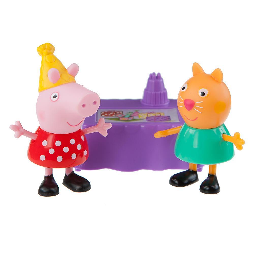 Peppa Pig набор фигурок свинка пеппа Peppa & Candy Cat Birthday Party