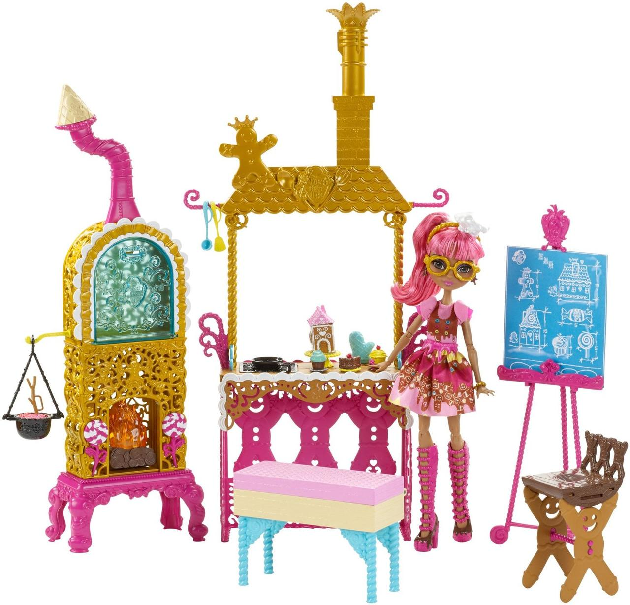Ever After High Кухня и кукла Джинджер Бредхаус Покрытые Сахаром Sugar Coated Kitchen with Ginger Breadhouse Doll Play Set