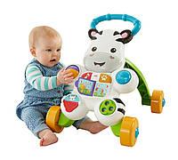 Fisher Price Ходунки-толкатели игровой центр Зебра Learn with Me Zebra, фото 1