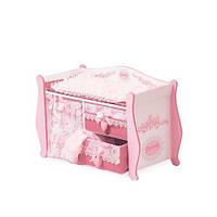 Деревянная кровать для куклы Kronos Toys 54421 Розовый int54421, КОД: 961403