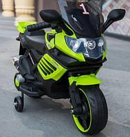 Детский мотоцикл на аккумуляторе Tilly T-7210, цвет зеленый
