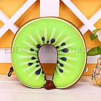 Дорожная подушка для шеи Долька Киви, Зеленый, 30х30
