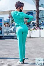 Женский спортивный костюм спереди кофта на змейки, фото 2