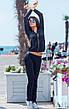 Женский спортивный костюм спереди кофта на змейки, фото 5