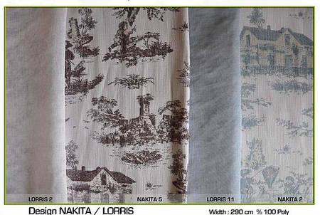 Ткань для штор Nakita, тюль Lorris