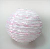 Шар Плиссе шеврон 35 см,. нежно-розовый