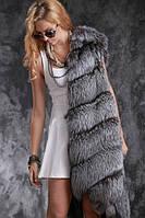 ЧЕРНОБУРКА жилетки и шубы Silver fox silverfox fur vests gilets sleeveless coats waistcoats