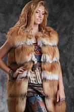 ЛИСИЦЯ жилети і шуби fox natural real fur vests gilets sleeveless coats waistcoats