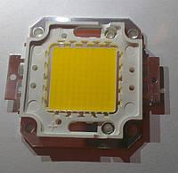 Светодиод LED 100W 30-36V 9500-11000 Lm 3000 mA 2800-3500K (белый теплый)