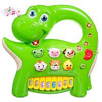 Интерактивные игрушки для малышей Интерактивная панель Музыкальный динозавр (зеленая), BeBeLino