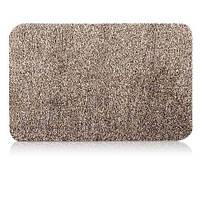 🔝 Придверный супер впитывающий коврик Clean Step Mat придверный Super Clean Mat Бежевый по Украине   🎁%🚚