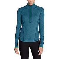 Кофта Eddie Bauer Womens Womens Engage 1 4-Zip Sweater PETROL MELIERT XXL Зеленый 792-0267PEM-XXL, КОД: 723879