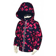 Демисезонная термо куртка Pidilidi Бабочки для девочек 92 см 978-01 Разноцветный hubKRNm18807, КОД: 1143067