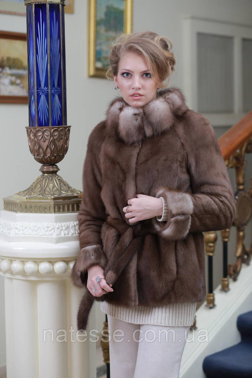 Шуба полушубок из канадской норки Nafa mink fur coat fur-coat furcoat