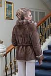 Шуба полушубок из канадской норки Nafa mink fur coat fur-coat furcoat, фото 2