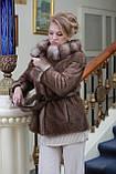 Шуба полушубок из канадской норки Nafa mink fur coat fur-coat furcoat, фото 3