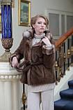 Шуба полушубок из канадской норки Nafa mink fur coat fur-coat furcoat, фото 4