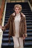 Шуба полушубок из канадской норки Nafa mink fur coat fur-coat furcoat, фото 5