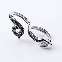"""Золотое кольцо """"Змея"""" с бриллиантом"""