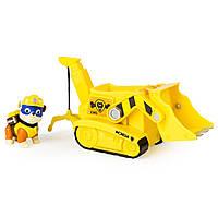 Paw Patrol Nickelodeon Щенячий патруль Крепыша и спасательный автомобиль Crane Vehicle with Rubble