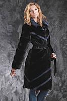 Шуба полушубок жилет из датской норки диагональ Real mink fur coats jackets, фото 1