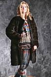 """Шуба с капюшоном из датской норки цвета """"Горький шоколад"""" real mink fur coats jacket, фото 6"""