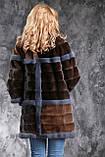 Шуба из американской норки GLAMA Real mink fur coats jackets, фото 4