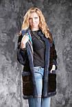 Шуба из американской норки GLAMA Real mink fur coats jackets, фото 5