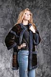 Шуба из американской норки GLAMA Real mink fur coats jackets, фото 6