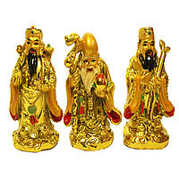 Три китайских звездных старца: Фу-син, Лу-син и Шоу-син (8 см)